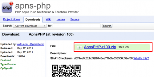 apns-php revision 100