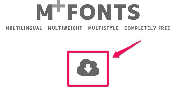 m+ フォント 公式サイト