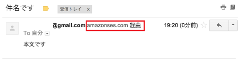 Amazon SESメール送信サンプル