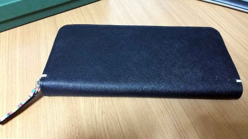 Paulsmith ZIP strawgrain 財布