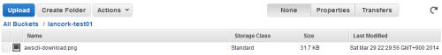 S3にアップロードされたファイル