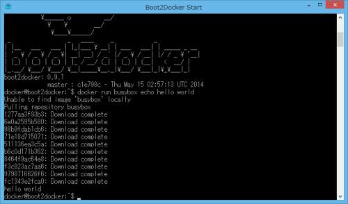 Boot2Docker Hello World