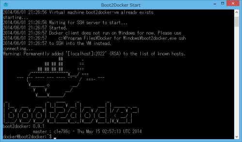 Boot2Docker Start