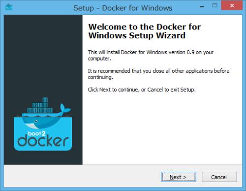 Boot2Docker インストール開始