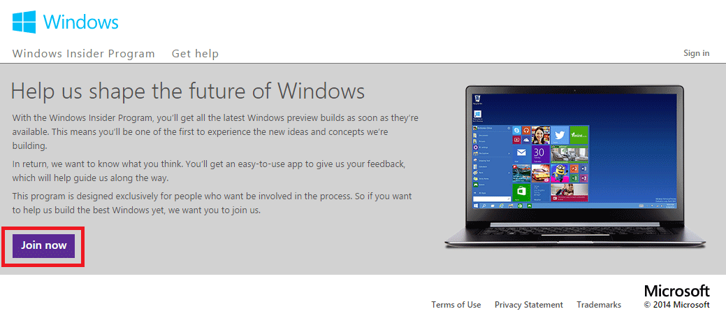 Windows 10 Preview Insider