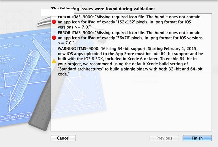 AppStore Validate結果