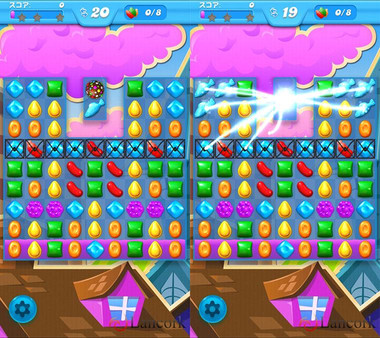 Candy Crush Soda Saga チョコレート効果