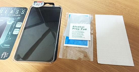 iPhone6 ステルスボタンガラス 内容物