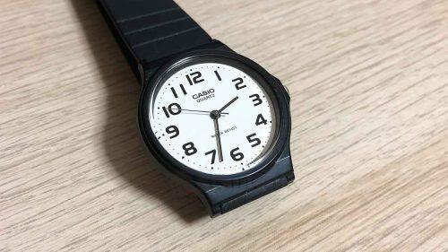 【チプカシ】カシオのアナログ腕時計「CASIO MQ-24-7B2LLJF」を購入した理由とレビュー