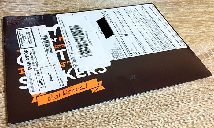 StickerMule 届いた封筒表