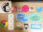 StickerMule 届いたサンプルステッカー