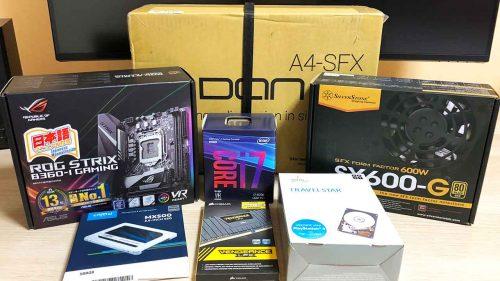 DAN Cases A4-SFX v3 と Core i7 8700 で超小型の自作デスクトップPCを組んでみた