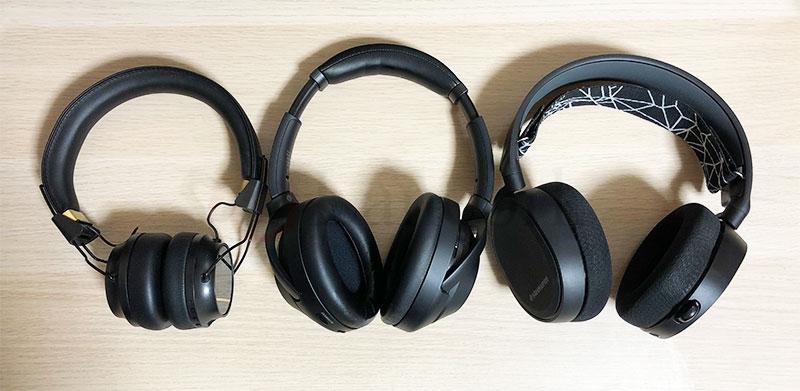 SONY WH-1000XM3 と Sudio Regent と SteelSeries Arctis 5