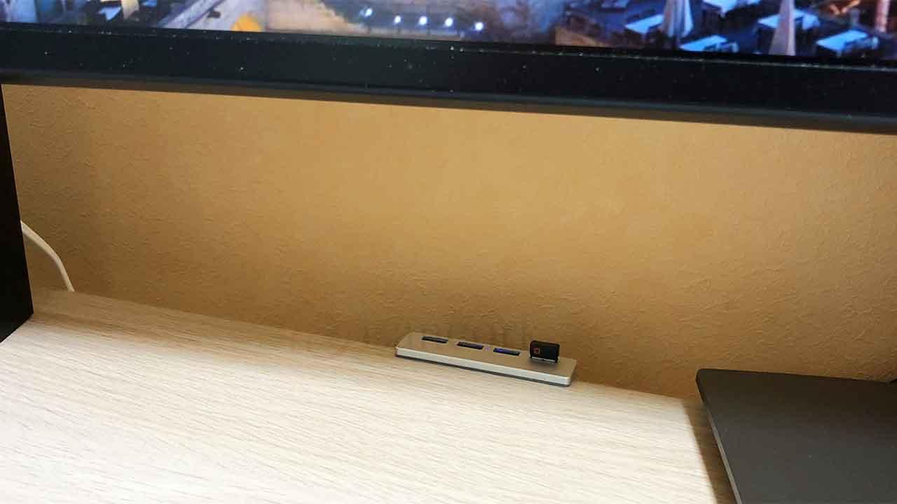 クランプ式USBハブ