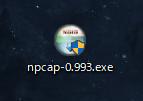 Wireshark Npcapのインストーラ