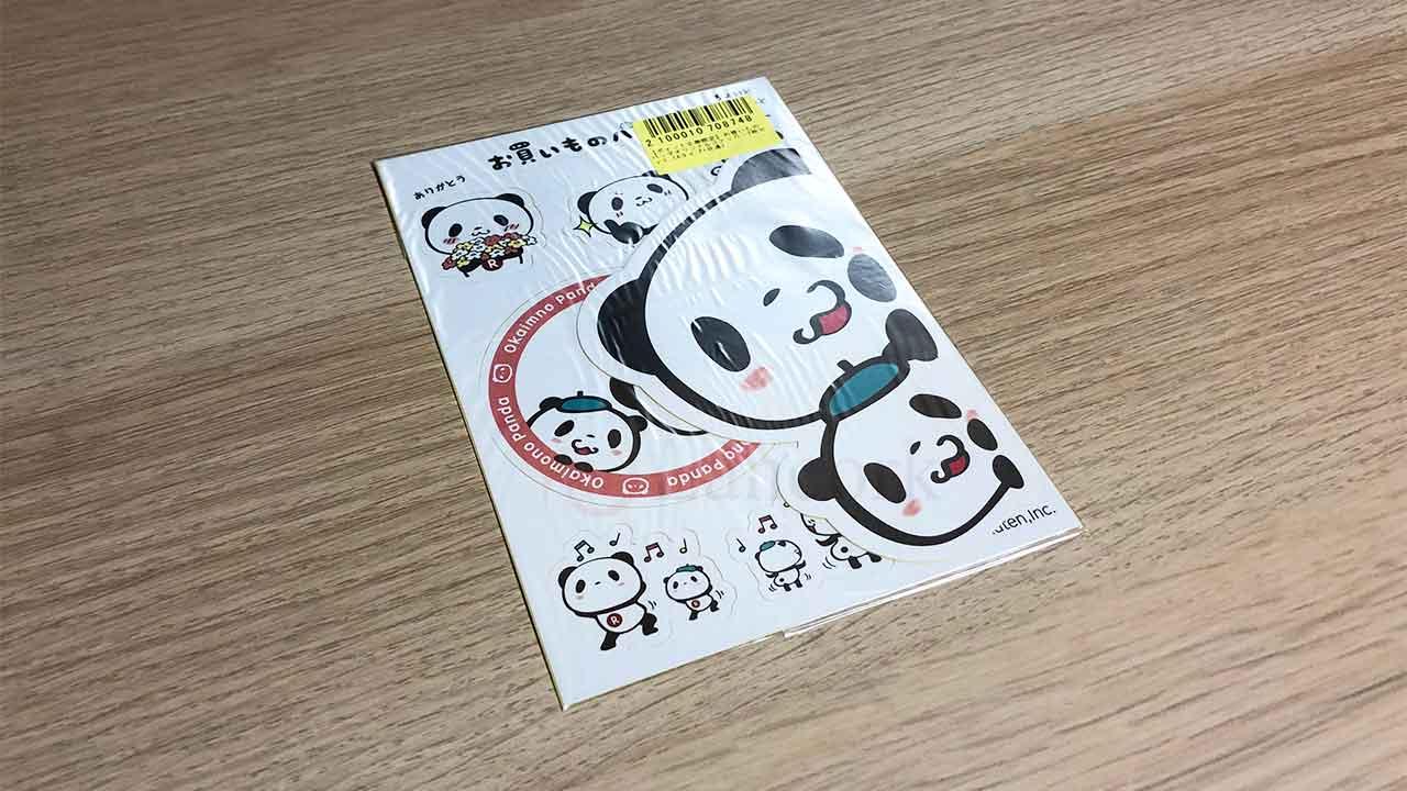 お買い物パンダのステッカー