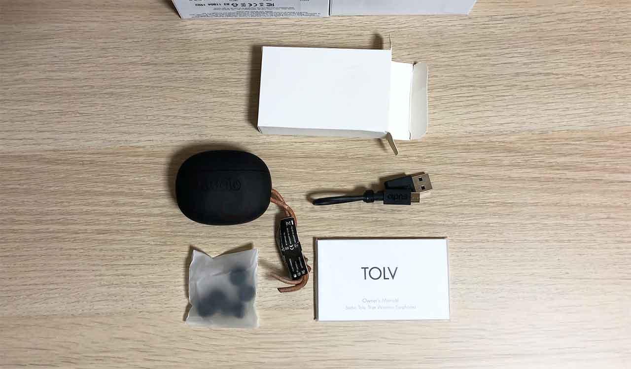 Sudio TOLV パッケージの中身一覧