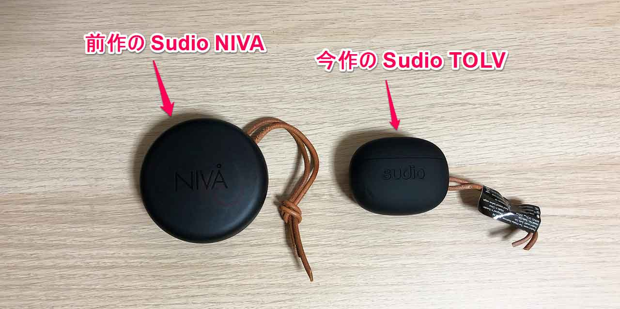 Sudio TOLV NIVAとのケース比較