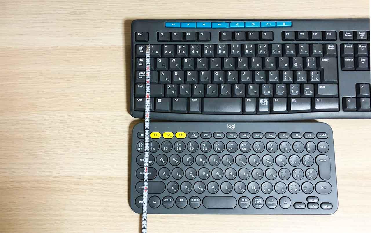 ロジクールのキーボード K380 と K275の比較