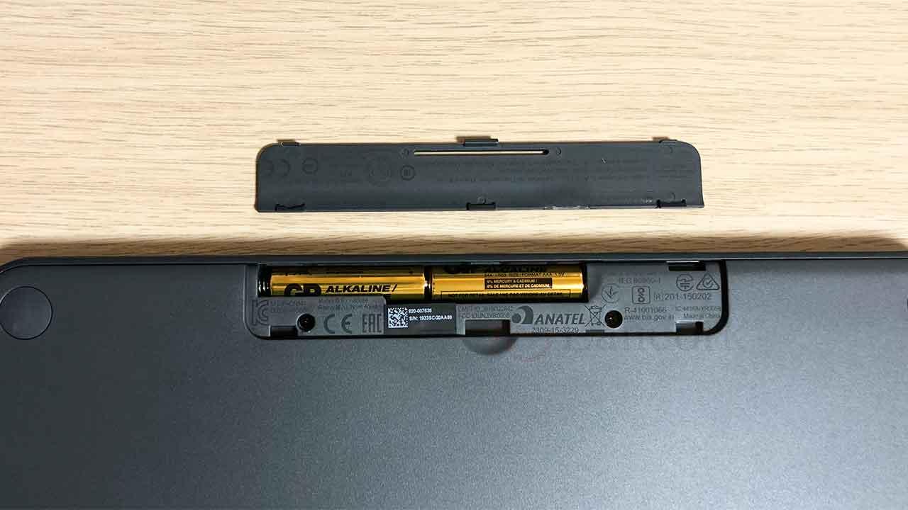 ロジクールのキーボード K380 単四電池