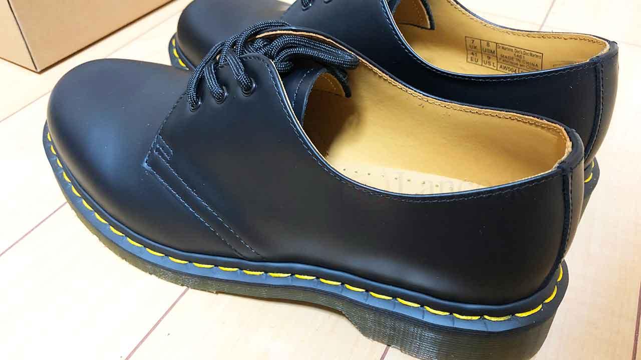 ドクターマーチンの革靴(1461 3EYE GIBSON SHOE)