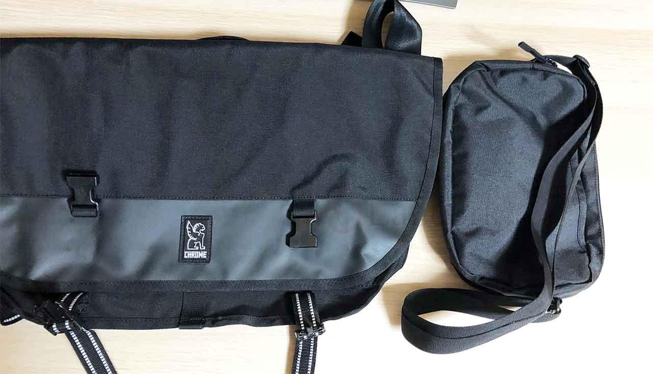 クロームインダストリーズ「CITIZEN MESSENGER BAG」 無印良品のショルダーバッグと比較