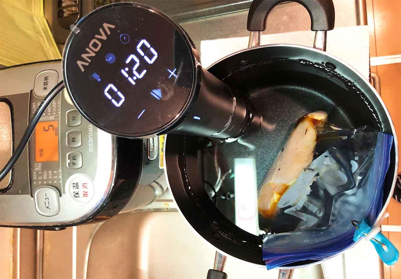 Anova Precision Cooker Nano 調理開始