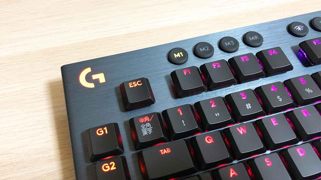 ロジクールのキーボード「G913」Gロゴ