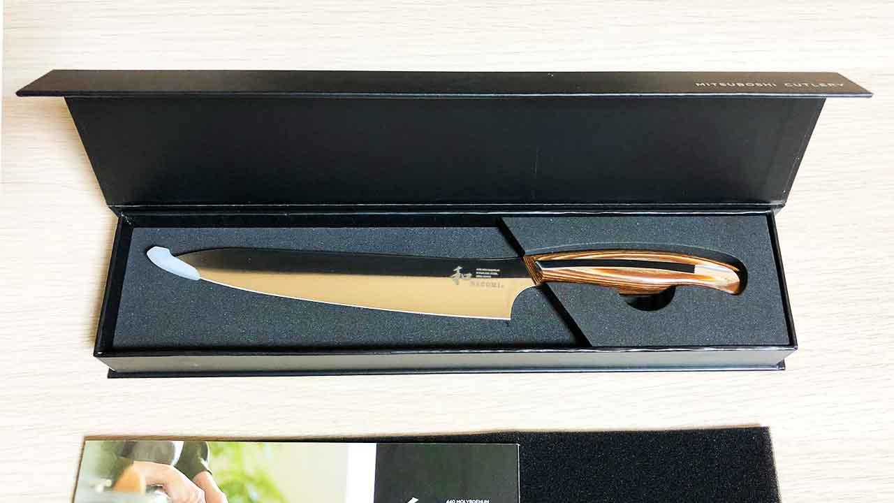 三星刃物「和NAGOMI ペティナイフ」 パッケージを開けたところ
