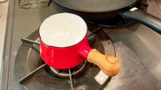 【レビュー】一人暮らしに丁度いい鍋「DANSK バターウォーマー」【味噌汁】