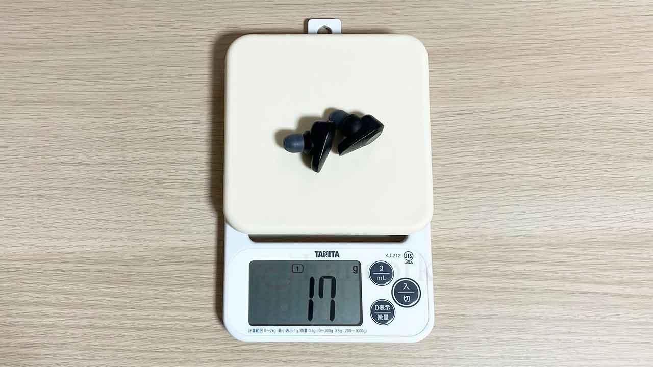 SONY WF-1000XM3 重さ17g